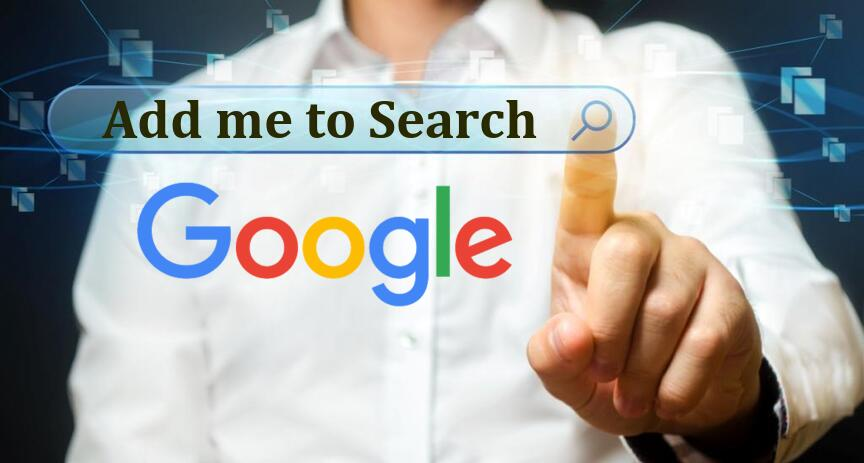 Add me to Search - Google Virtual Visiting Card in India
