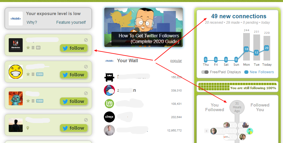 Boost your Twitter Followers by using Twiends