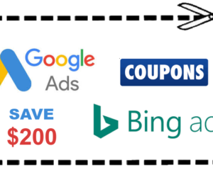 Google AdWords and Bing Ads Coupons