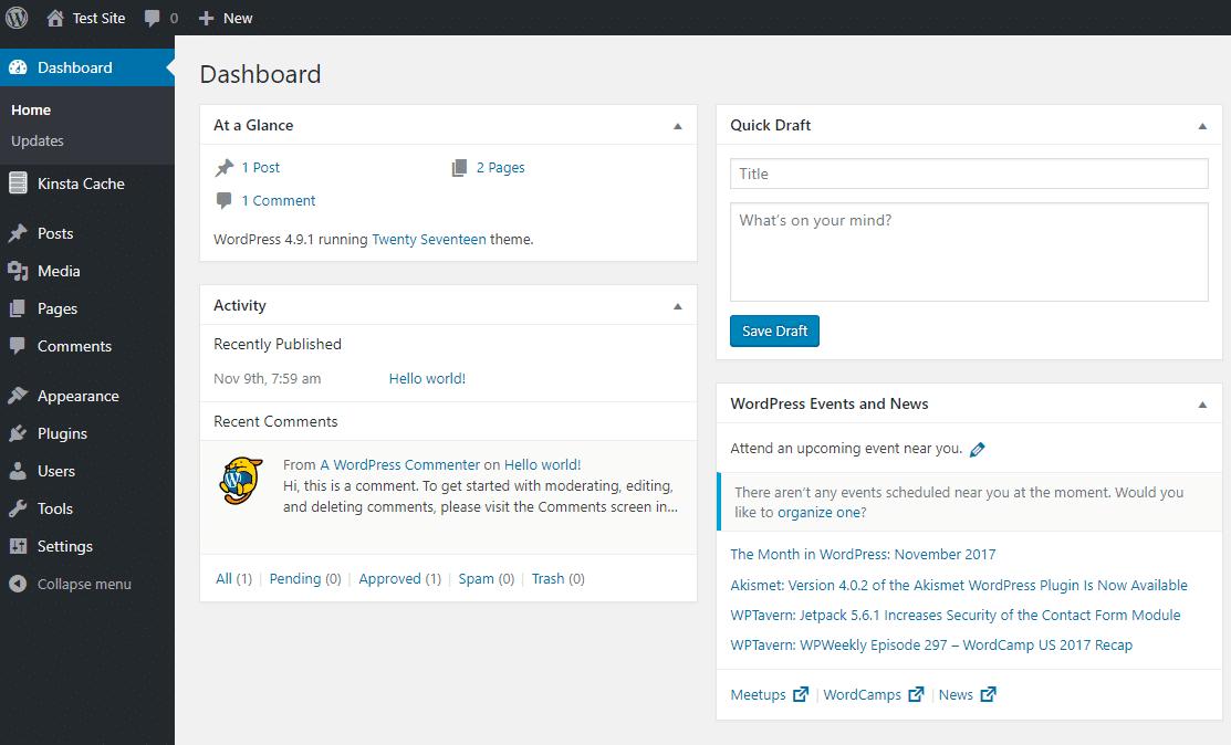 Wordpress Deshboard Nob6