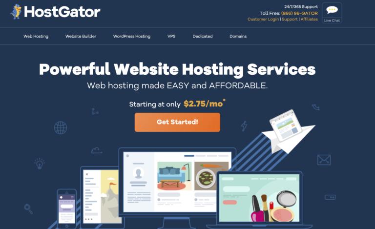 best hosting site hostgator - guide how to start a blog 1