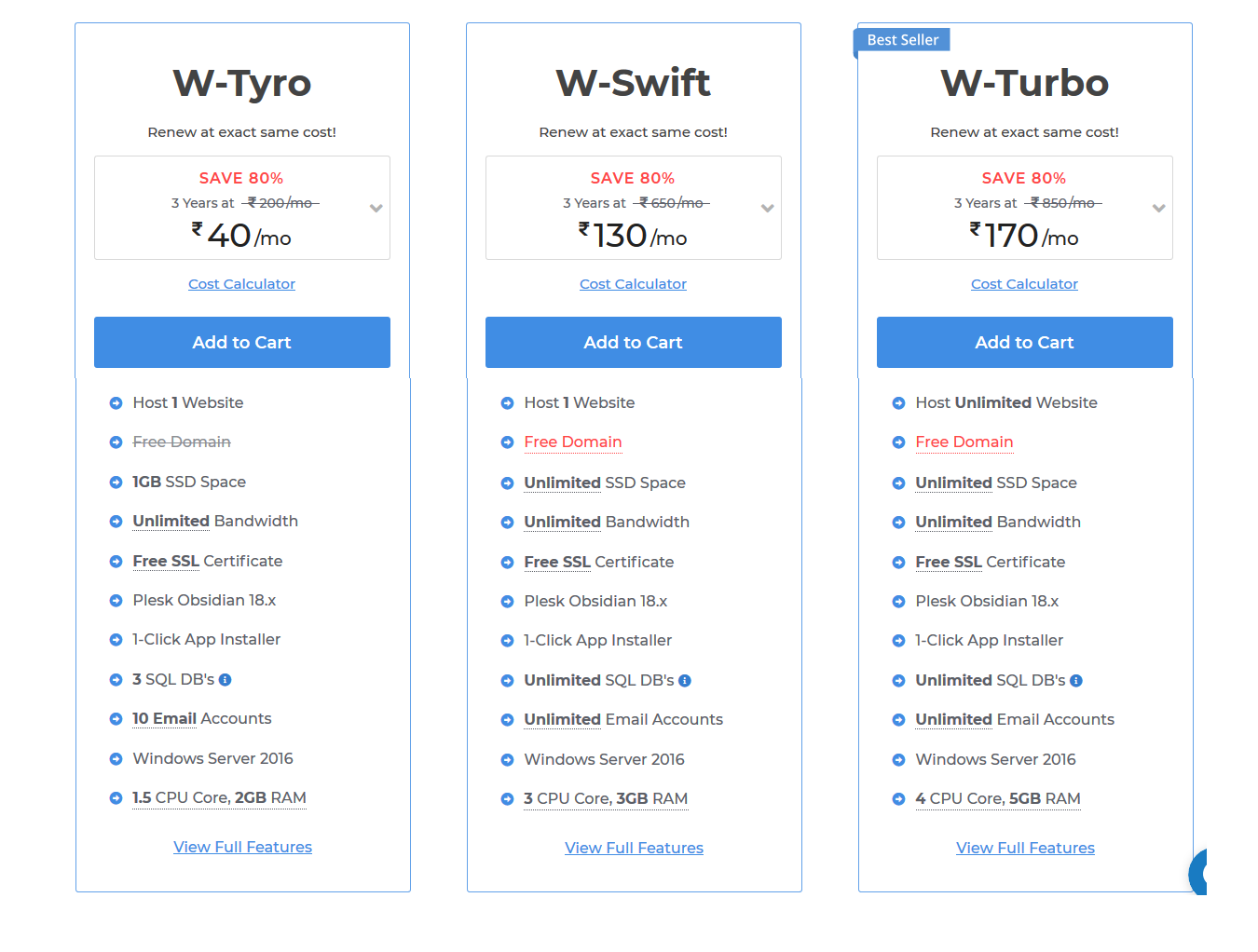 Milesweb hosting plan