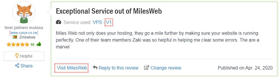 Mlesweb hosting Customer Reviews