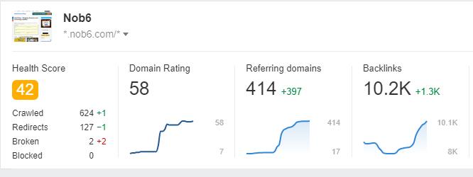 Nob6 Blog Domain Rating