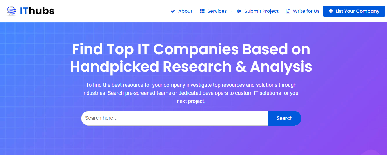 Find-Top-IT-Companies-Based-on-handpicked-Analysis-2020-ITHubs