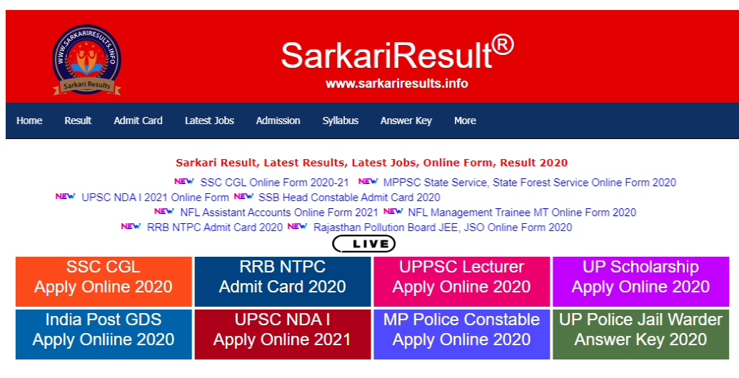 Sarkari-Result-Sarkari-Results-Latest-Online-Form-Result-2021