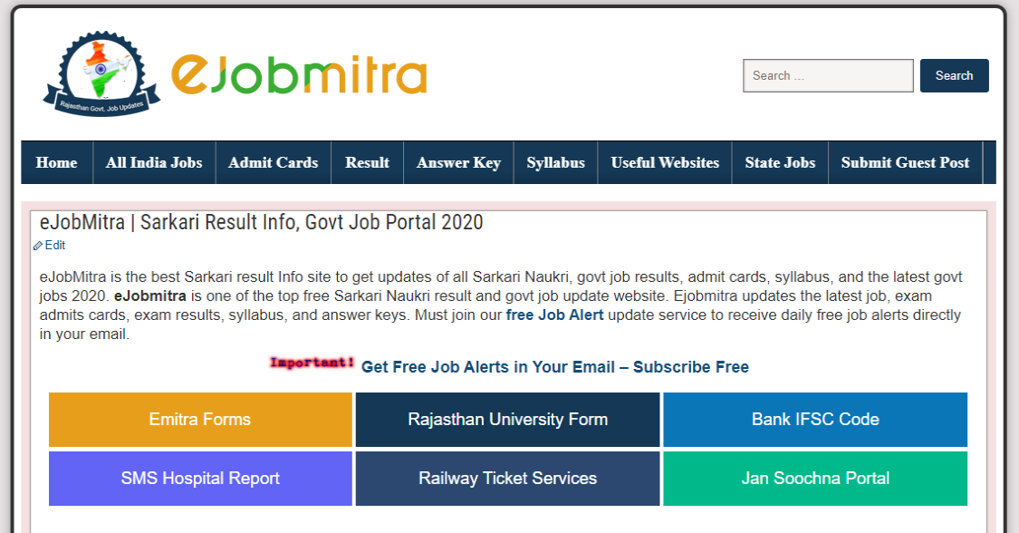 eJobMitra-Sarkari-Result-Info-Govt-Job-Portal-2021